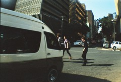 Streets of Johannesburg (Viktography) Tags: people streets film southafrica lomo lomography taxi diana sa dianaf
