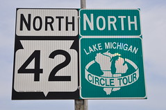 Wisconsin 42 North (Triborough) Tags: sign wisconsin roadsign highwaysign wi manitowoccounty routemarker lakemichigancircletour wi42 manitwoc wisconsin42
