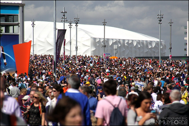 Crazy crowds at The Olympic Park