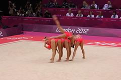 (Professor Alf) Tags: ball dance women russia balls gymnastics olympics sequins russian rhythmicgymnastics leotard wembleyarena flexible london2012 womensgymnastics teamrussia