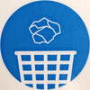Chuck it in the bin (chrisinplymouth) Tags: squircle circle round hygeine cw69x sign squaredcircle blue