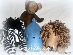 Animais da Floresta (Mnica Pintando7) Tags: zebra macaco feltro presente leo hipopotamo festainfantil lembrancinha pintando7 centrodemesa florestaencantada animaisdafloresta animaisemfeltro animaisdaselva decoraodefestainfantil bichinhosdaselva