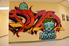 Senza//Wundr. (Urban Camper.) Tags: street school art wall wonder graffiti high mural 11 11th eleven legal dma senza eleventh talens characeter digitalmediaacademy eleventhwonder wundr