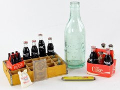 21. Assorted Coca Cola Bottles
