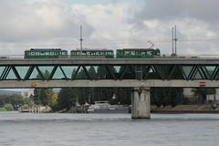 Tram - Strassenbahn auf der Dreirosenbrücke ( Strassenbrücke ) und letzte Rheinbrücke in der Schweiz bei Basel in der Schweiz (chrchr_75) Tags: hurni christoph schweiz suisse switzerland svizzera suissa swiss rhein fluss river chrchr chrchr75 chrigu chriguhurni 1208 august 2012 hurni120816 albumrhein chriguhurnibluemailch rhin reno rijn rhenus rhine rin strom europa joki rivière fiume 川 rivier rzeka rio flod río august2012 albumzzz201208august tram stadt basel strassenbahn öv öffentlicher verkehr städtische verkehrsbetriebe albumoberrhein oberrhein albumtramstadtbasel