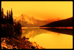 quiet lake (wolf8_us) Tags: canada mountains travels jasper lakes coolest alberts