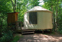 Lost Creek yurt (ihynz7) Tags: statepark camping michigan yurt wilderness upperpeninsula porcupinemountains lostcreekyurt