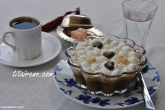 Arabic Coffee Pot de Crme with Whipped Cream (DeliciousMNostrum IS