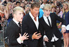 John Grimes, Edward Grimes aka Jedward, David Hasselhoff 'Keith Lemon the Film' World premiere held at the Odeon West End