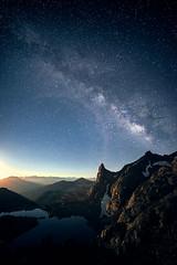 Photo by Clay Carey (HumanTheme.com) Tags: blue sky mountain lake night way stars landscape scenery space clay milky carey photostory humantheme