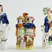 224. Antique Staffordshire Figures
