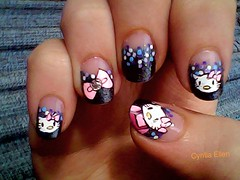 Unhas da Hello Kitty (-CyntiaE.) Tags: pink hellokitty rosa bolinhas nails unhas nailart