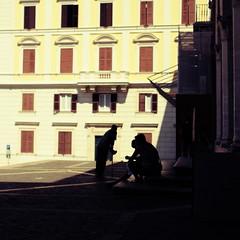 Begging in front of San Pietro in Vincoli (lennox_mcdough) Tags: italien shadow people italy rome roma church silhouette canon dark eos italia shade rom canonef50mmf14usm sanpietroinvincoli 5dmarkii takenin2012