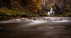 Gold and Ebony (Between Dark and Brightness Photography) Tags: autumn water leaves automne waterfall spring morte jura cascade couleur feuille comt franche automnale billaude