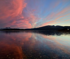 sunset in red (John A.Hemmingsen) Tags: sunset sun reflection water colors night clouds landscape nordnorge troms nikkor1685dx nikond7000