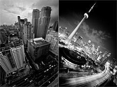 i am the quays to my city. (Proletar1at) Tags: urban toronto ontario canada skyline cntower gardiner expressway urbanexploring ue collegepark urbex rooftopping dyptech