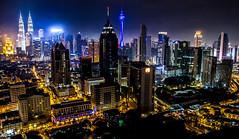 Skyline Kuala Lumpur, Malaysia (Danil den Toom) Tags: malaysia maleisie kuala lumpur capital skyline night long exposure longexposure skyscrapers klcc petronas towers traffic view infinity downtown