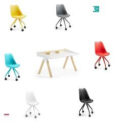 soul poltroncina con ruote colorata e scrittoio stile scandinavo (design italiano) Tags: sedia ufficio ruote colorate cameretta scrittoio scrivania poltrona poltroncina