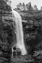 Norway in BW 4 (jttoivonen) Tags: nature blackandwhite monochrome waterfall mountain outdoors