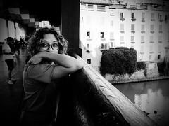 Sabry (BertMacFly) Tags: bw bassano woman street monocrome italy olympus em10markii micro43 portrait blackandwhite