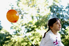 Dreams will always follow you! Just make them happen... (Marianna Gabrielyan) Tags: child portrait dream blur outdoor park people bokeh depthoffield balloon picnic