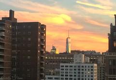 #Sunset #worldtradecenter #wtc #skyline  #newyork  #Afterglow (lelobnu) Tags: afterglow sunset worldtradecenter wtc skyline newyork