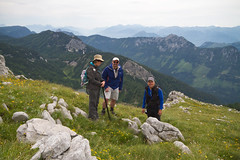 Happy orchid lovers (smir_001 (on/off)) Tags: tauplitz liezen tauplitzalm traweng rocky hiking ascend descend trailnr72 difficult strenuous nature outdoor alpine routes austria sterreich styria steiermark landscape scenery july summer austria2016 mountains canoneos7d people