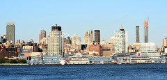New York Skyline (Kevin Shriner) Tags: water view newyorkcity architecture newyork newjersey skyline waterfront city outdoor river