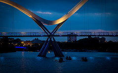 To Infinity (simon.mccabe.5) Tags: colour north uk river night tees infinity boat boats stockton