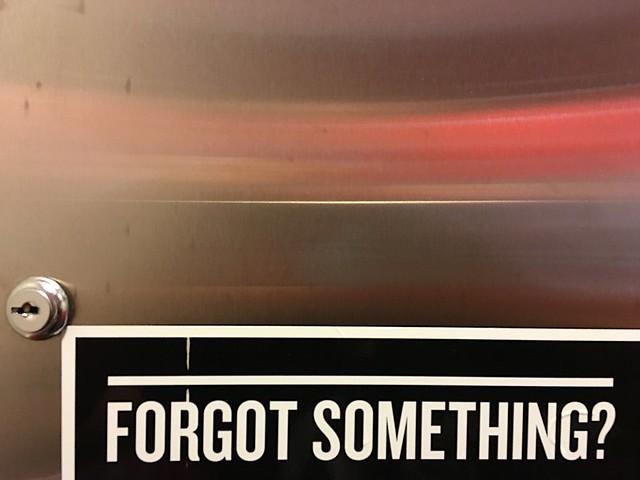 I Forgot What I Forgot