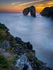 Castro de las Gaviotas II (davidmp93) Tags: costa asturiana asturias mar playas llanes waves sunset amanecer beach longexposure acantilados cueva españa nikon d3300 nikonistas
