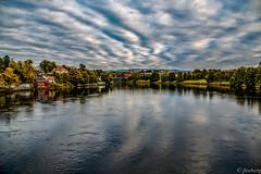 Nidelva, Trondheim (jforberg) Tags: 2016 trondheim river water waterfront bridges city trees cloudy color canon colors canon5d norway noregia norwegen norwegian norge n