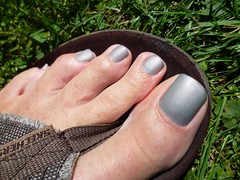 Greay with Silver Tips (toepaintguy) Tags: male guy men man masculine boy nail nails fingernail fingernails toenail toenails toe foot feet sandal sandals polish lacquer gloss glossy shine shiny sexy fun daring allure gorgeous glitter gray silver tip tips matte