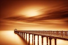 Serenity (Muhammad Al-Qatam) Tags: nikon d810 alqatam malqatam muhammadalqatam kuwait kuwaitcity big stopper long exposure water clouds peir sunrise