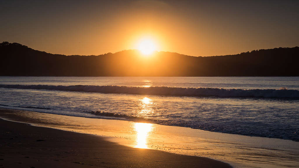 Sunrise umina beach