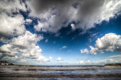 Estoy Aqu (I Am Here) (Dibus y Deabus) Tags: gijon asturias espaa spain cielo sky nubes clouds playa beach playadesanlorenzo hdr canon