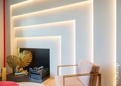 Delirio y aplomo_02 (Decoratrix.com) Tags: casadecor decoracin interiorismo madrid exposicin 2016 pladur chimenea escultura hoja latn geometra