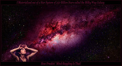 I Materialized out of a Star System called the Milky Way Galaxy (jr_images) Tags: hubblespacetelescope nasa spacetelescopes astronomicalcompositions deepskyimages nightscapes milkyway galaxies galaxy starfields stars nebulae nebula astrophysics cosmicconnections cosmologicalimages cosmology astronomy astronomicalimages universe space cosmos