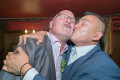 Boys playing up! (Ivan's page) Tags: wedding reception larkingabout boys embrace kiss