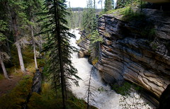 Athasbasca River (Stefan Jrgensen) Tags: jaspernationalpark 2013 sony dslra700 a700 canada rockymountains alberta athabasca river falls waterfall athabascariver icefieldsparkway
