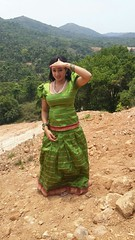 South Actress Madhuchandaphotos Set-3-Hot In Traditional Dress (48)