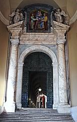 Gate with bronze door (1619) - Inscription: PAULUS V PONTIFEX MAXIMUS ANNO XIIII - The Vatican City / Rome (Carlo Raso) Tags: gate portal door vaticancity rome