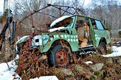 range rover 3.5 V8 (riccardo nassisi) Tags: auto abbandonata abandoned car wreck wrecked rust rusty relitto rottame ruggine epave jaguar range rover settetermini sette termini varese montegrino valtravaglia abbandono urbex de decay italy