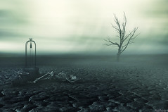Inhospitableness (Noro8) Tags: world tree photomanipulation photoshop dark skeleton death scenery mood desert atmosphere processing brushes end lonely nowater noro8 inhospitableness