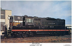 SSW GP9 823 (Robert W. Thomson) Tags: railroad train illinois diesel railway trains locomotive trainengine lagrange geep cottonbelt emd gp9 ssw fouraxle stlouissouthwestern