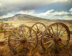 pioneer spirit (Merilee Phillips) Tags: old sky mountain abandoned nature landscape nikon worn cody legacy hdr wagonwheels motat weatherd rockpaper wyomiing d700 tatot magicunicornverybest magicunicornmasterpiece absarokamountain