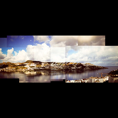 177/366: room with a view (nyah74) Tags: blue houses sea sky white reflection water collage clouds turkey landscape view stitch crane south hill trkiye aegean scene trkei peninsula bodrum ege gndoan kolaj gundogan bodrumarchitecture