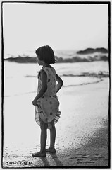 Far Away (Shwetabh Sameer) Tags: blackandwhite beach 50mm child goa theenchantedcarousel shwetabh