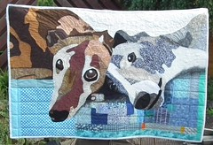 Penny & Fletcher - Finished! (pennydogaccessories) Tags: greyhound quilt pictorial greyhounds festivalofquilts