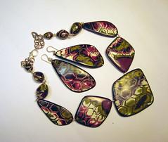 DSC06489 (artemisiaclay) Tags: necklace polymerclay fimo earrings collana orecchini katoclay